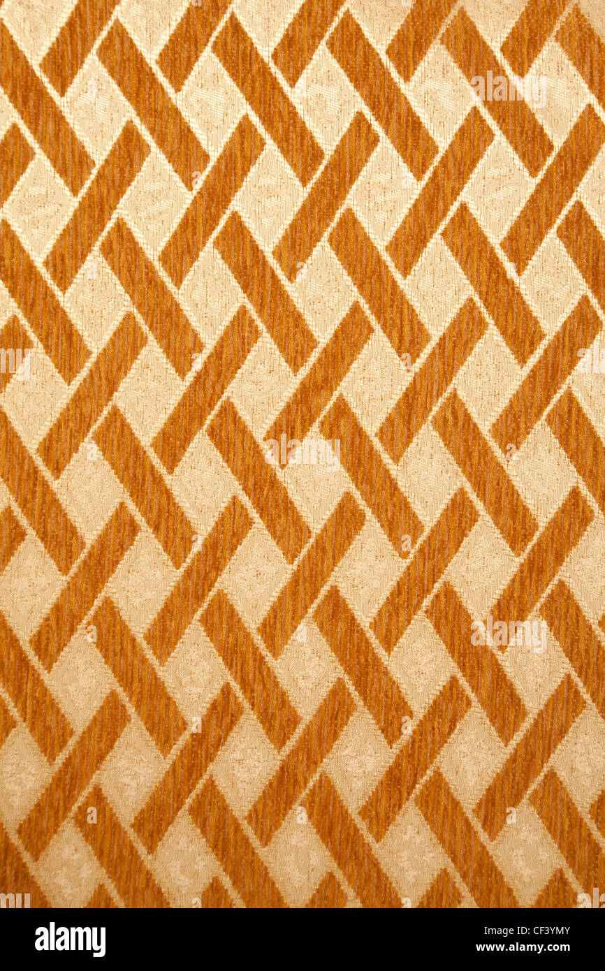 Texture high resolution of yellow wall with brown tiling ornament. Modern style. - Stock Image