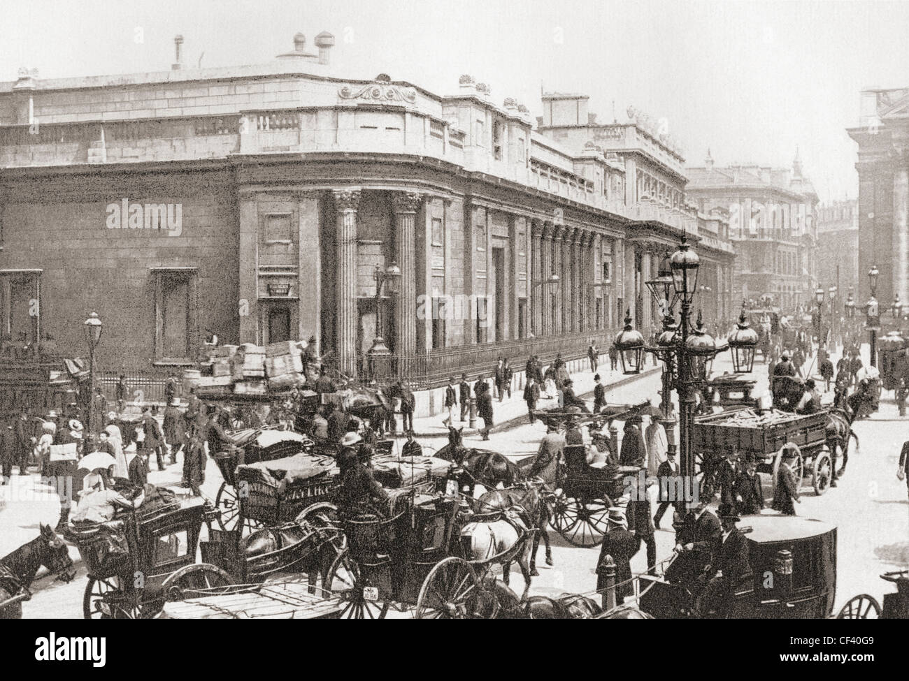 The Bank Of England Threadneedle Street London In Late 19th Century