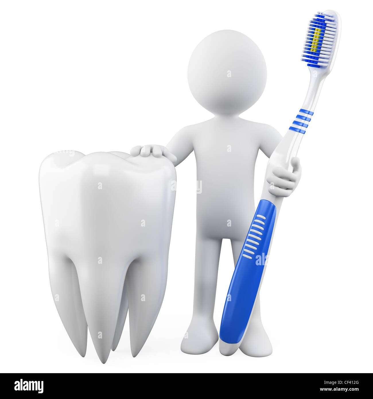 Dentist With A Tooth And Toothbrush Rendered At High Resolution On A Stock Photo Alamy