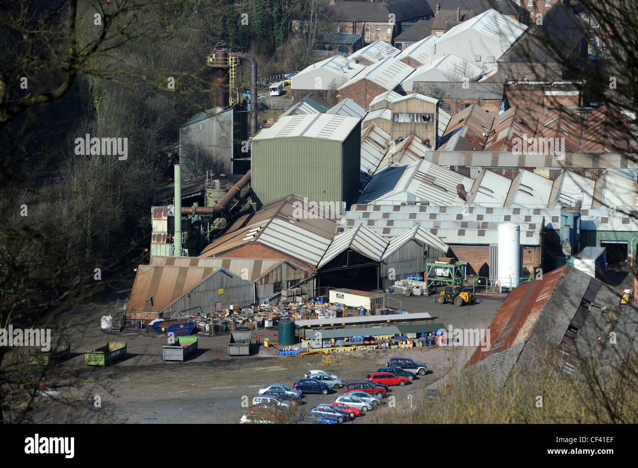 The Aga-Rayburn Factory in Coalbrookdale Telford. The factory is located on one of the original foundry sites of - Stock Image