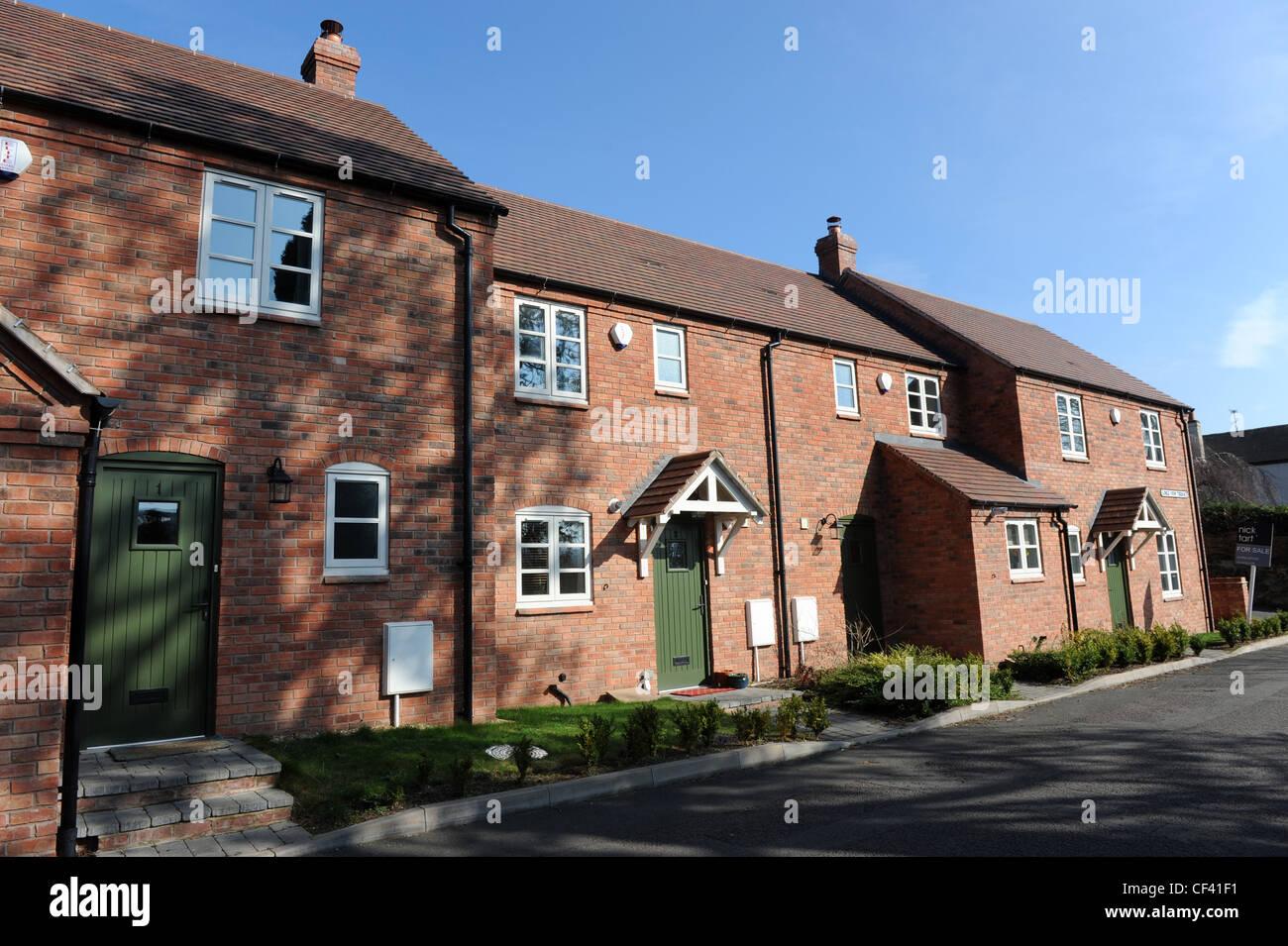Modern terraced houses Uk Stock Photo