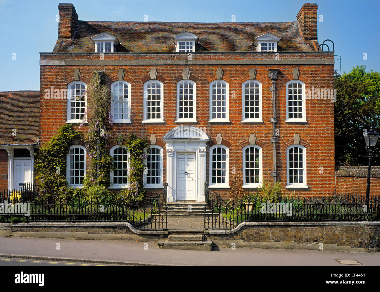 Exterior view of clarence house in thaxted stock photo for Exterior view of house