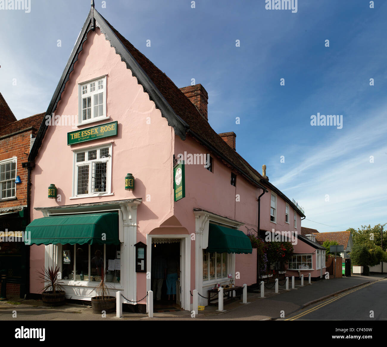 Traditional tearooms in Dedham. A customer might expect to receive cream tea or Devonshire tea, often served from - Stock Image