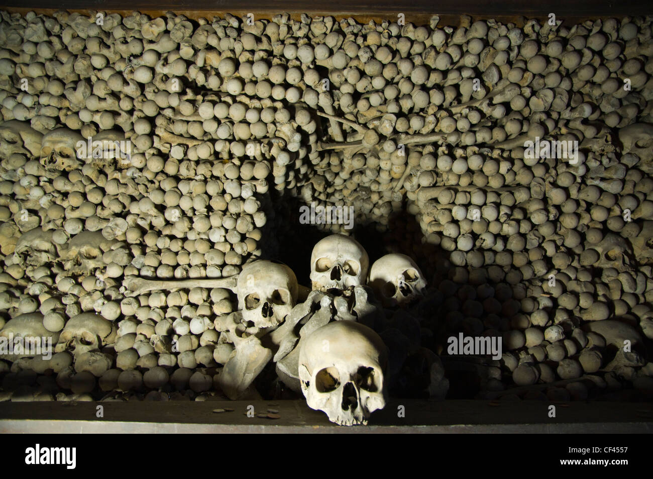 Kostnice Sedlec the Sedlec Ossuary in kaple Vsech svatych church Kutna Hora city Czech Republic Europe - Stock Image