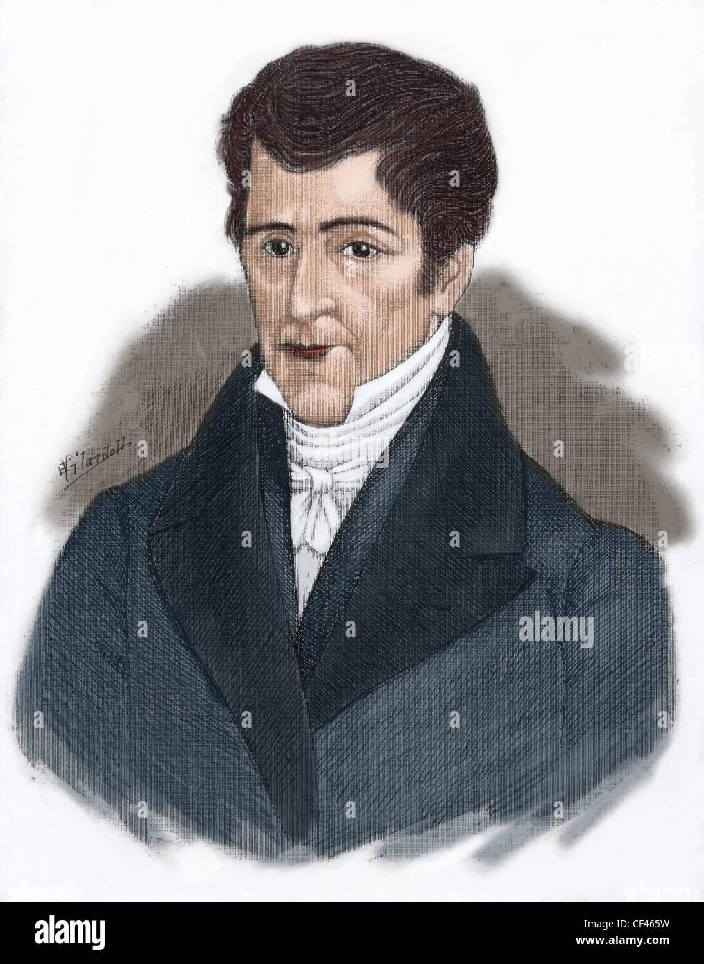 Jose Cecilio del Valle (1780-1834). Honduran politician, writer, philosopher, lawyer, and journalist. Portrait. - Stock Image