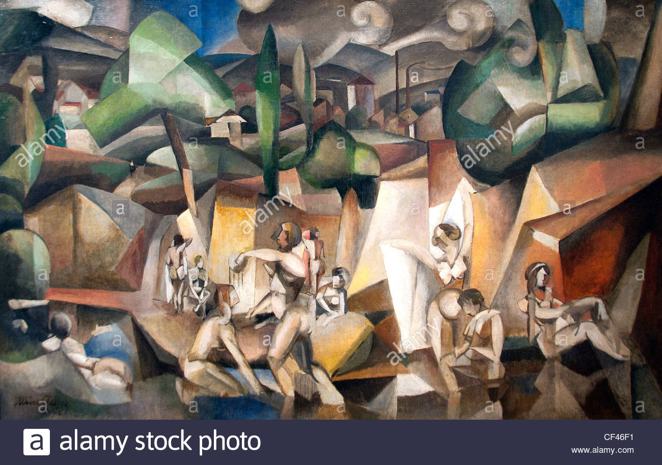Les Baigneuses The Bathers 1912 Albert Gleizes Painter France French - Stock Image