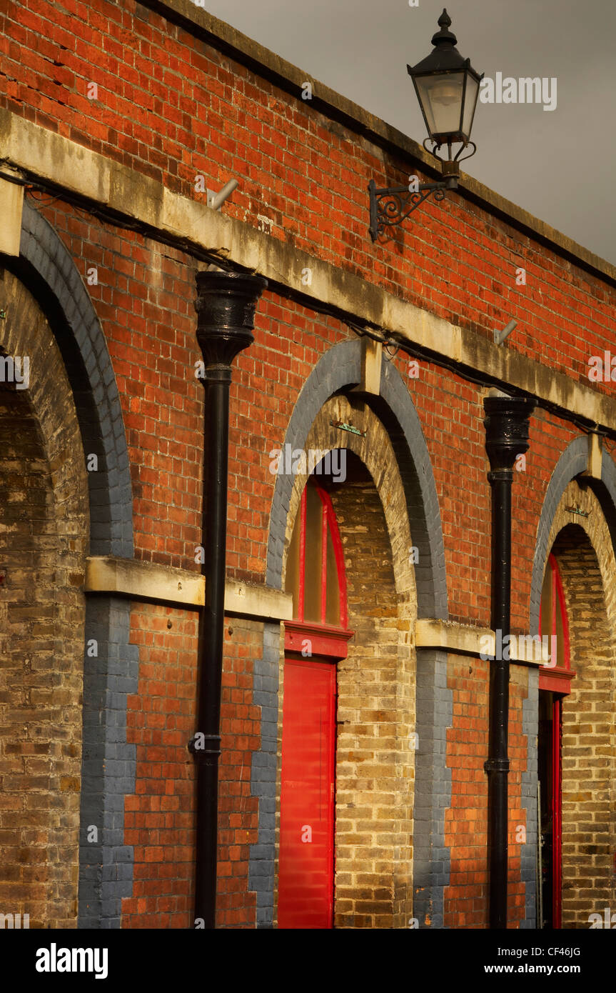 The front arches of the old Pannier market in Barnstaple North Devon. - Stock Image