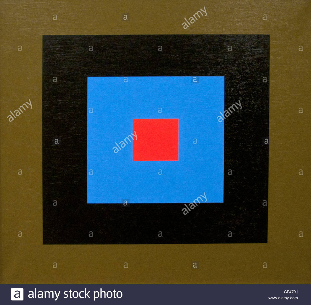 Commotion du point 12 Concussion of item 12 - 1971 Aurelie Nemours Painter France French - Stock Image