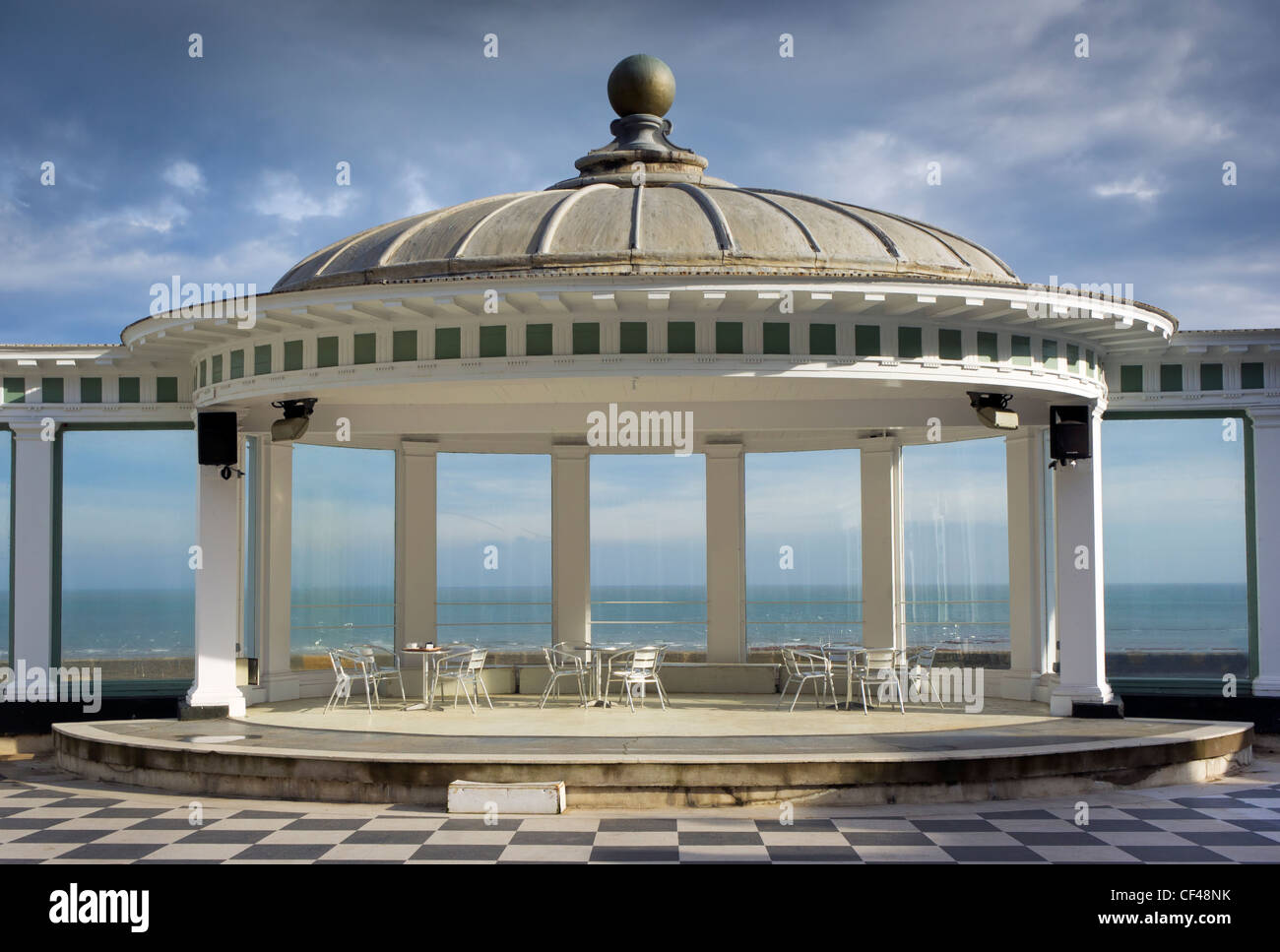 A bandstand located in South Bay at the Scarborough Spa Complex. - Stock Image