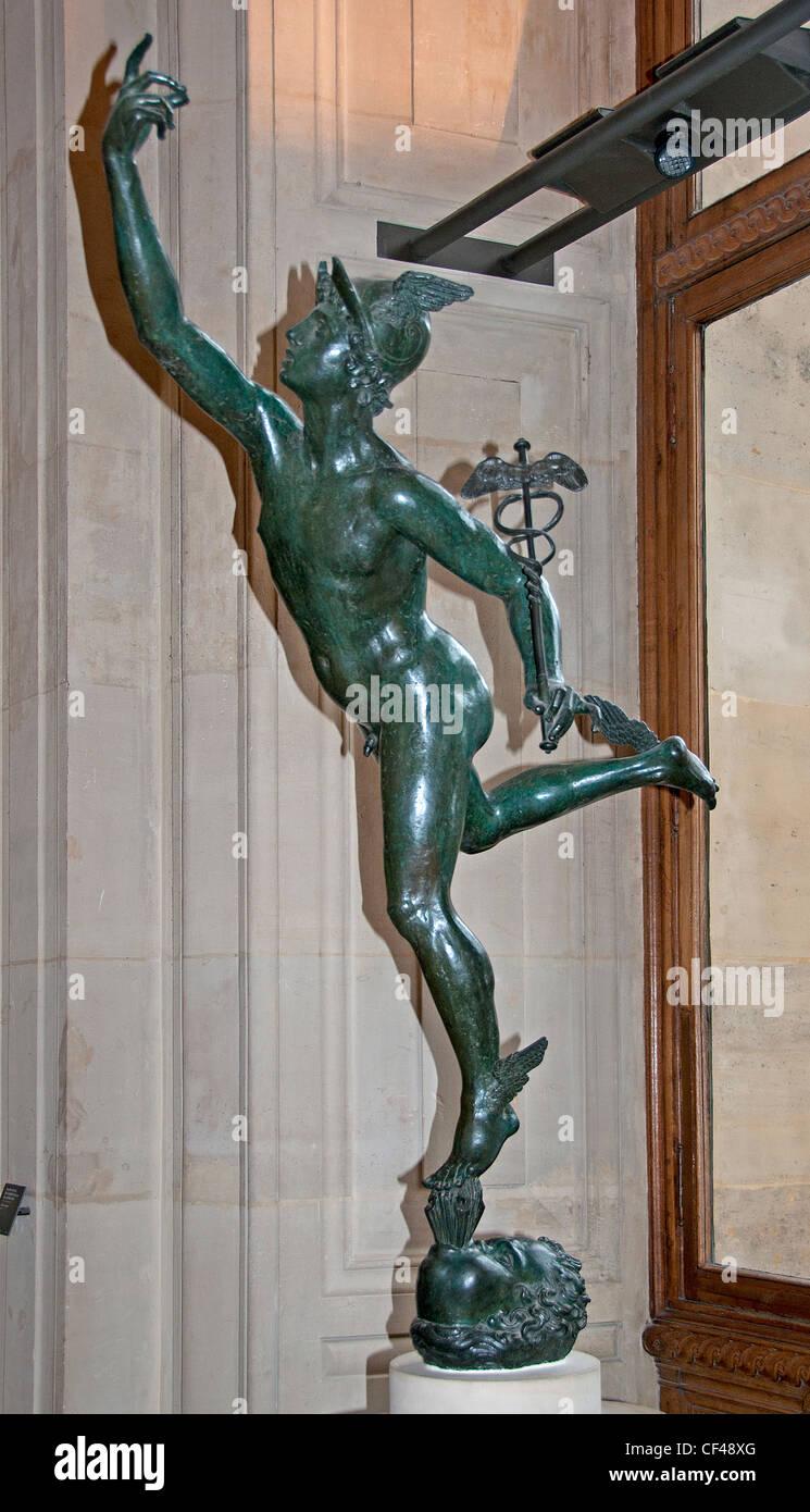 Flying mercury Jean Boulogne said Jean Bologna or Giambologna Douai 1529 - Florence 1608 French Italian - Stock Image