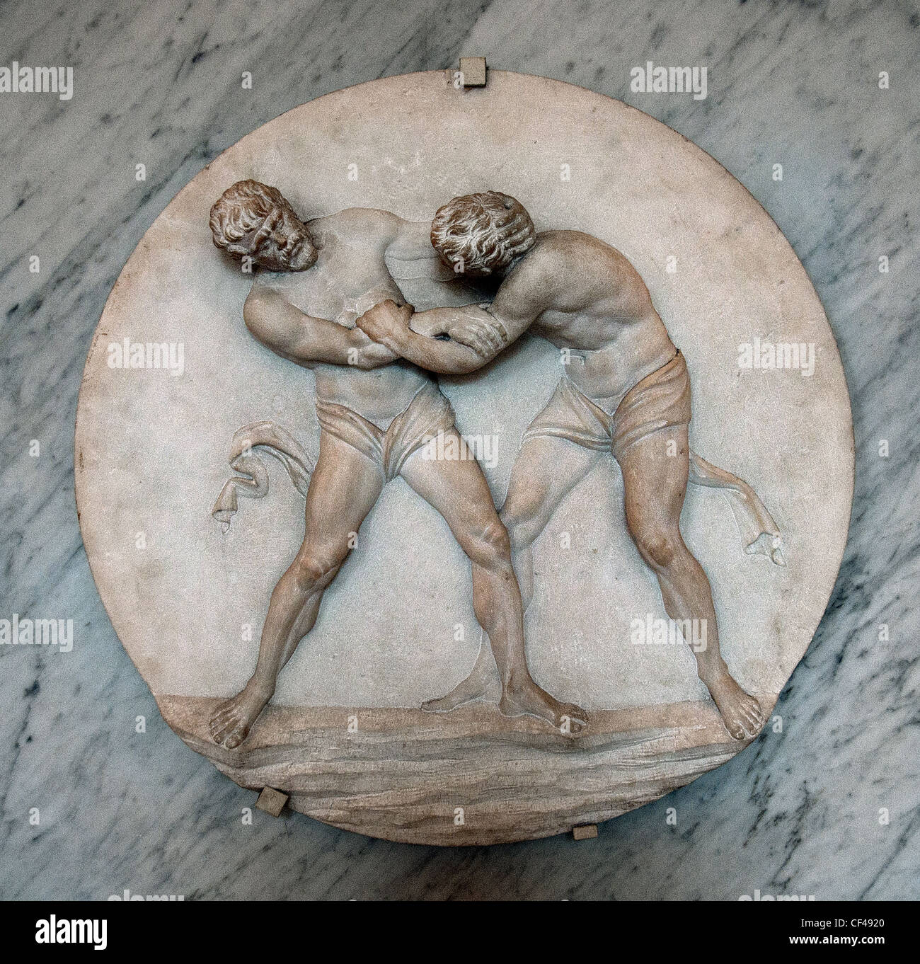 Agostino Penna gymnastic exercises Roman Greek Gladiator Gladiators  Borghese Collection 1782  Italy - Stock Image