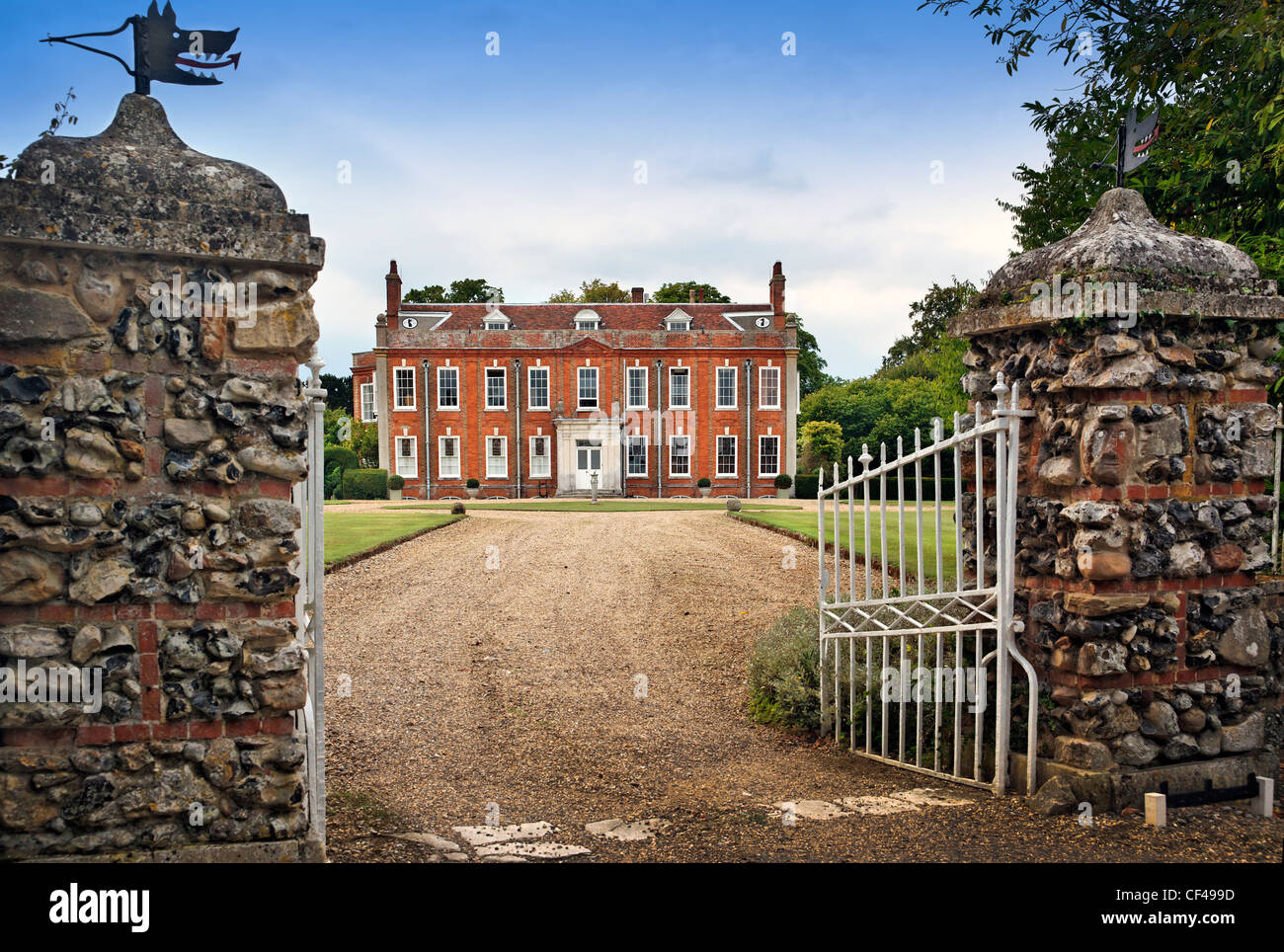 Belchamp Hall is a Queen Anne period English country house built in 1720 and is on the edge of the old vilage of - Stock Image
