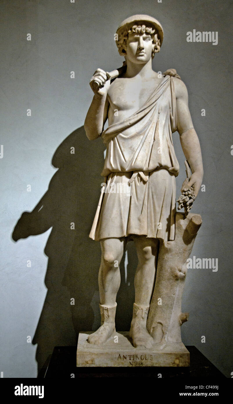 Antinous as Aristaeus god of the gardens Bought in Rome in the 17th century by Cardinal Richelieu - Stock Image