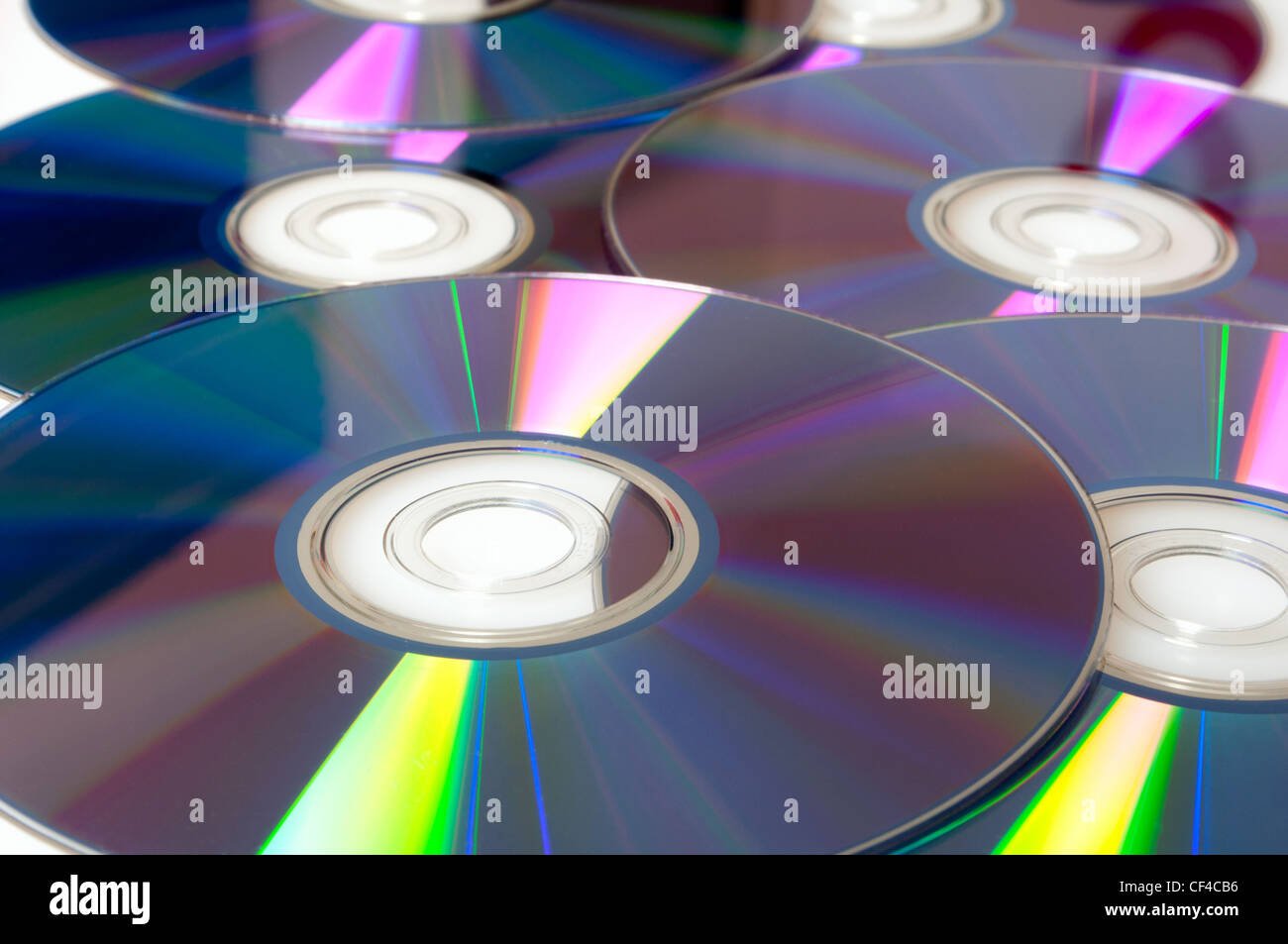 Background of Many Shiny CD Compact Discs - Stock Image