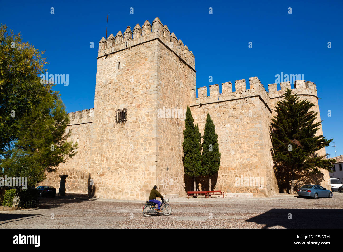 Castle of the Counts of Orgaz, Orgaz, Toledo Province, Castilla-La Mancha, Spain. - Stock Image