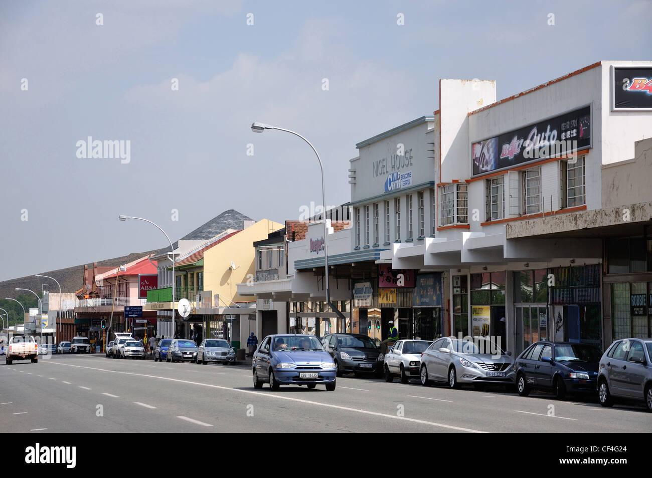 Hendrick Verwoerd Street, Nigel, Gauteng Province, Republic of South Africa - Stock Image