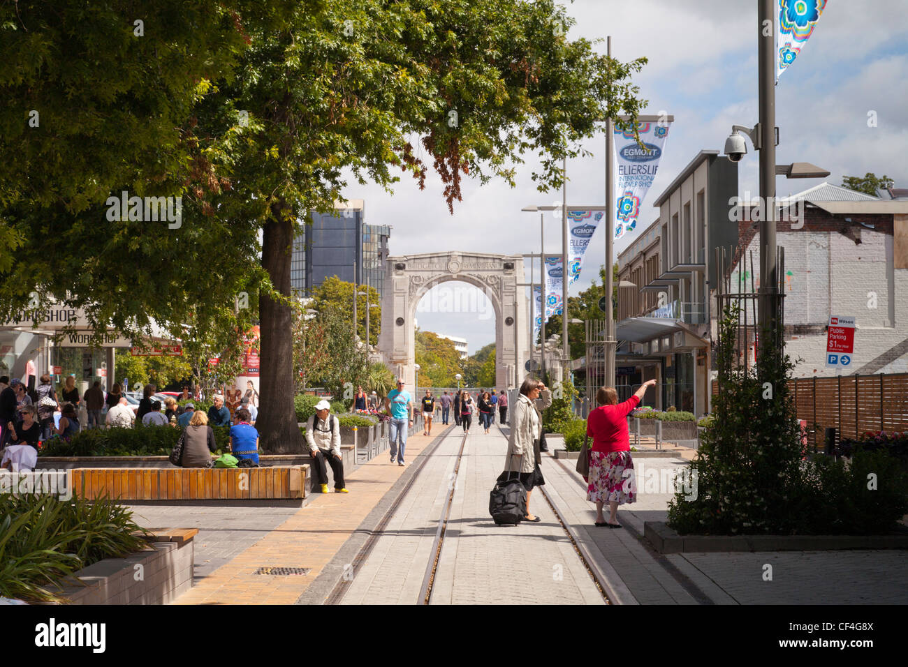 Christchurch Container Mall - Stock Image