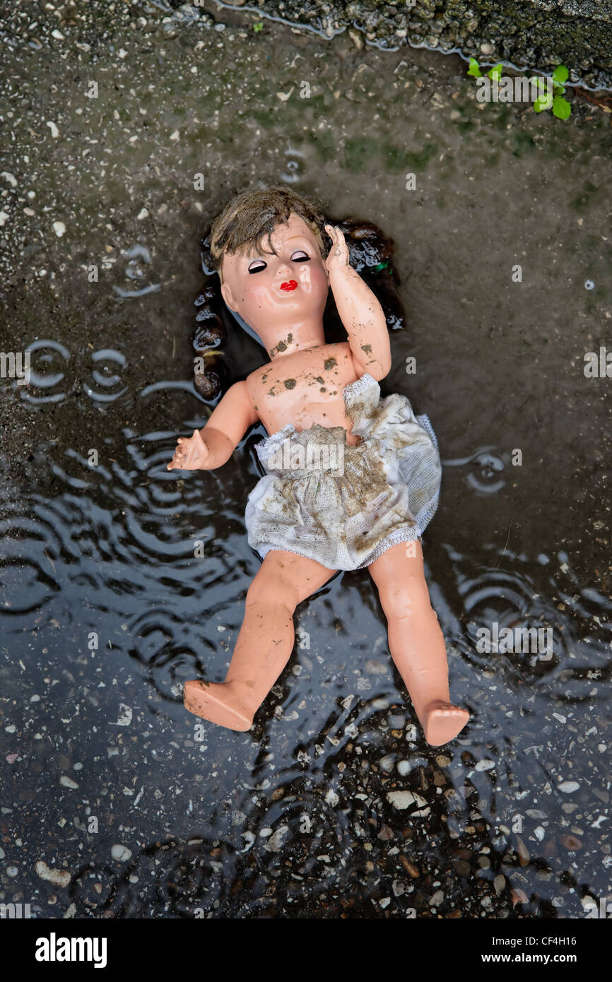 symbol of mistreatment and abuse of children - Stock Image