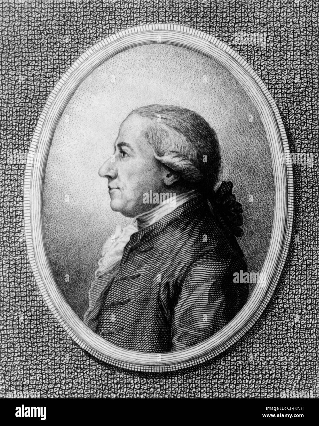 Vintage portrait print of American statesman Henry Laurens (1724 - 1792) - President of the Second Continental Congress - Stock Image