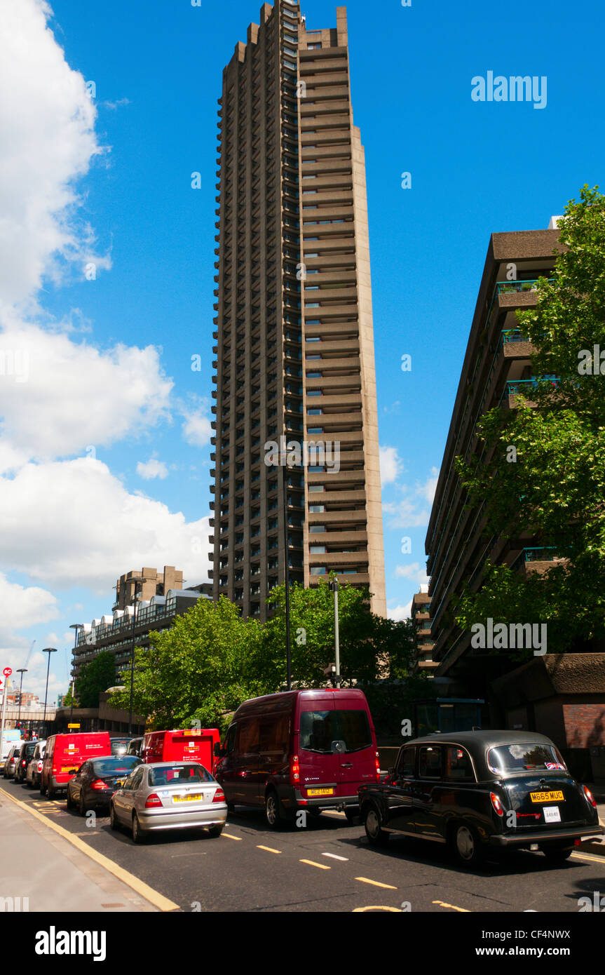 Lauderdale Tower on the Barbican Estate, City of London. - Stock Image