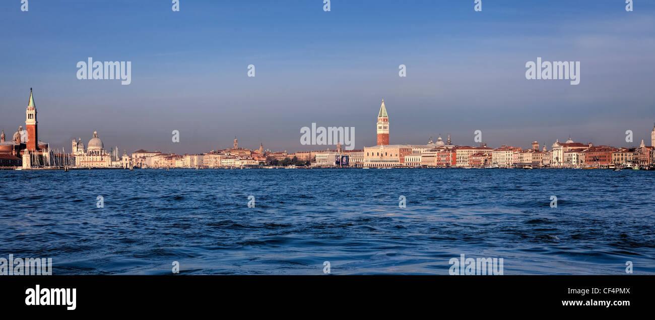 Bacino di San Marco, with panoramic views of Venice, Veneto, Italy - Stock Image
