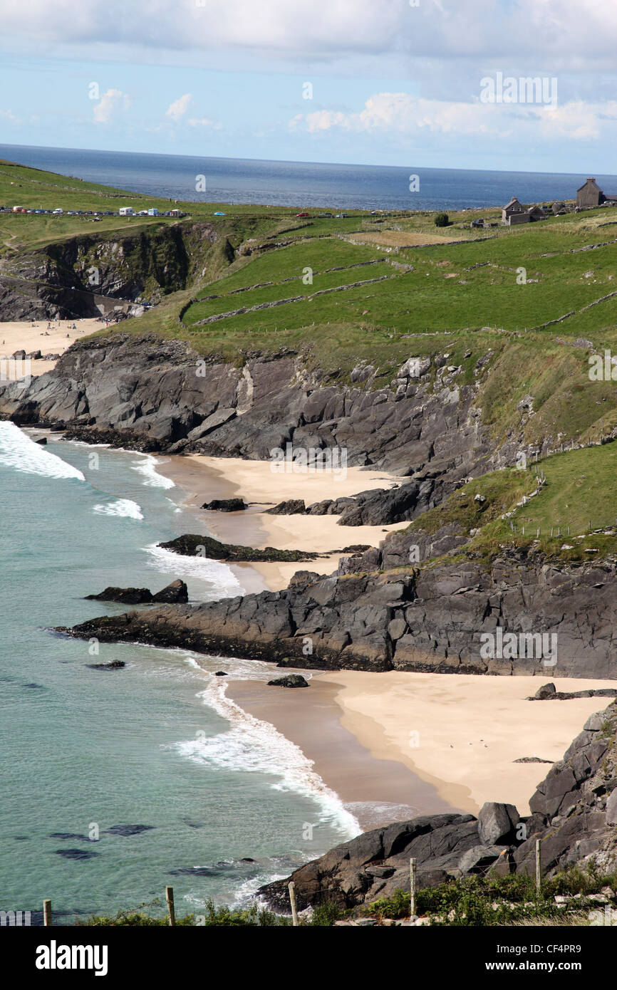 Coomenoole Beach, film location for Ryans Daughter, at Dunmore Head on the Dingle Peninsula, the most westernmost - Stock Image