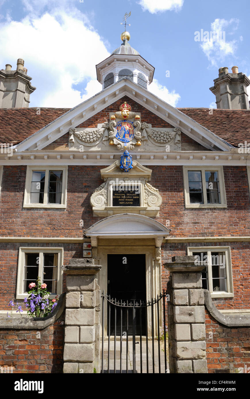 The Matron's College, built in 1682 to provide a sheltered home for ten widows of clergy from the Diocese of - Stock Image