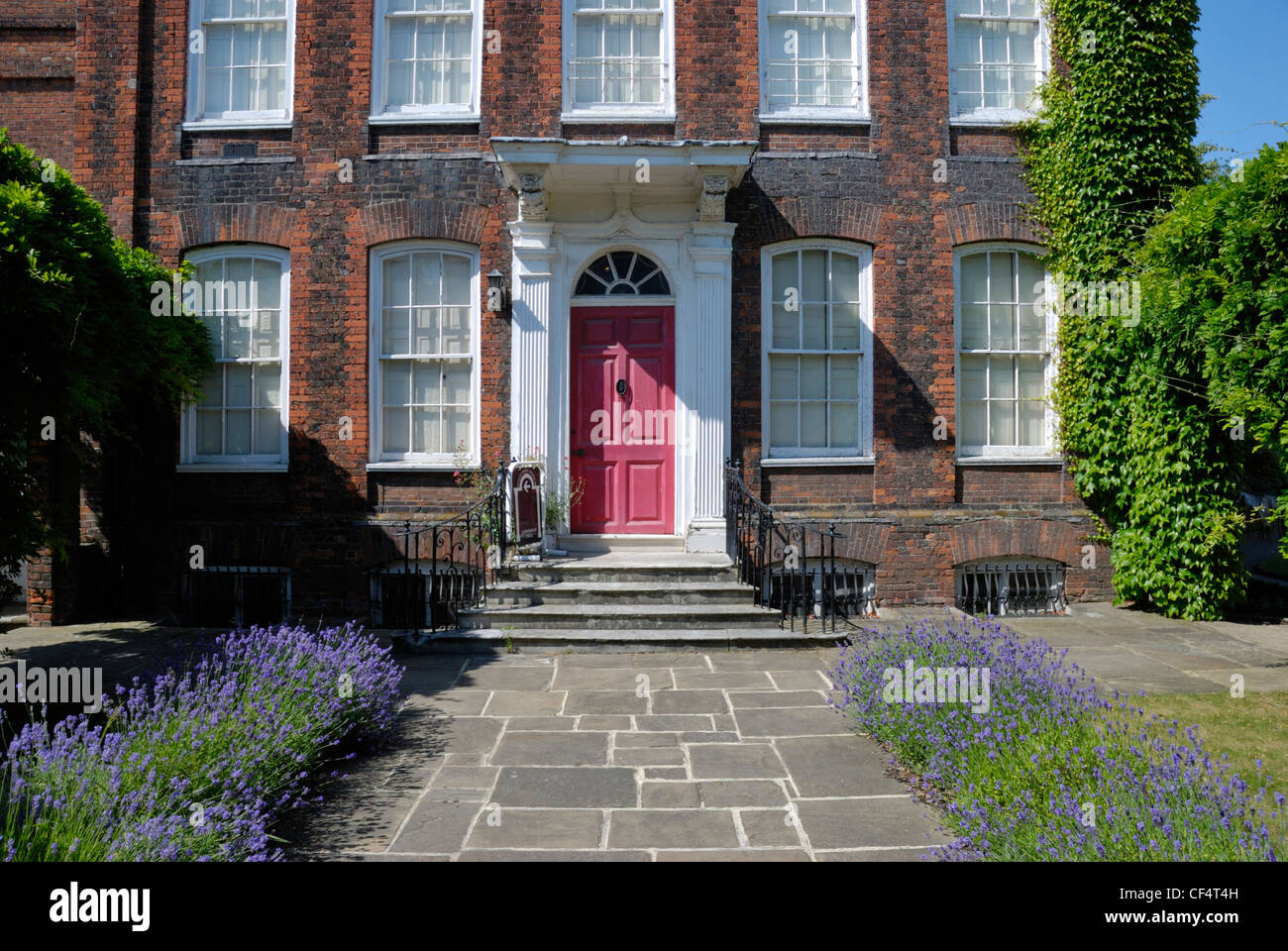 Hollytrees Museum is home to 300 years of fascinating toys, costumes and decorative arts in a Georgian town house - Stock Image