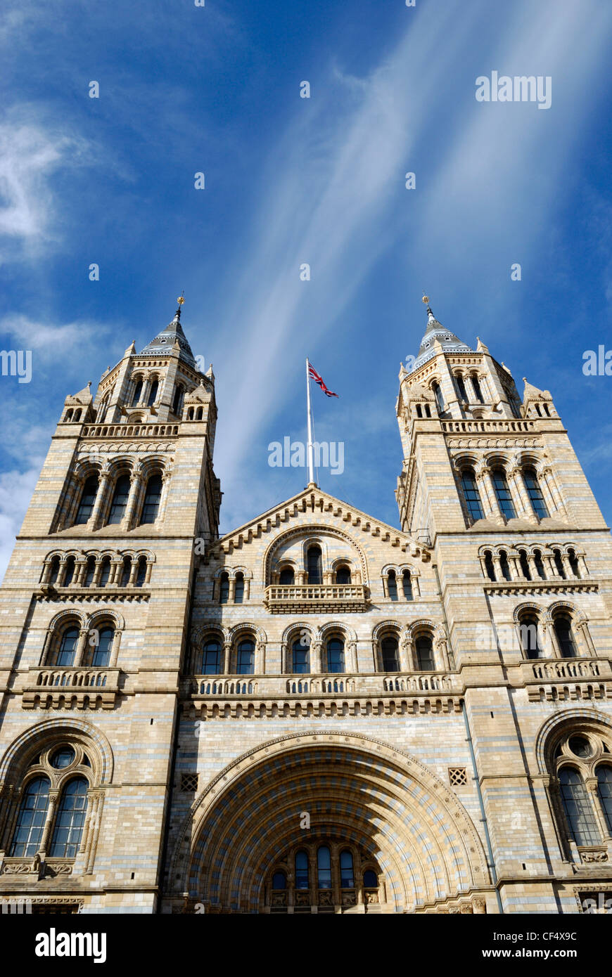 The Cromwell Road entrance to the Natural History Museum in London. Stock Photo