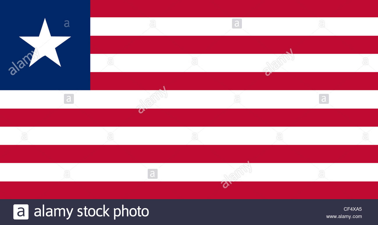Digital composition - flag of Liberia - Stock Image