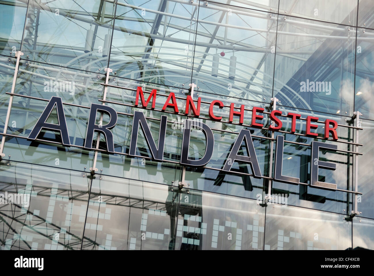 Manchester Arndale, the UK's largest inner-city shopping centre, located in the heart of Manchester City Centre. - Stock Image