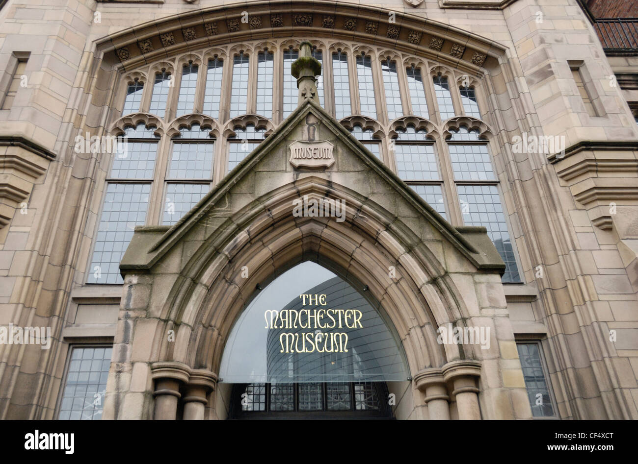 The Manchester Museum in Oxford Road, first opened to the public in 1890. - Stock Image