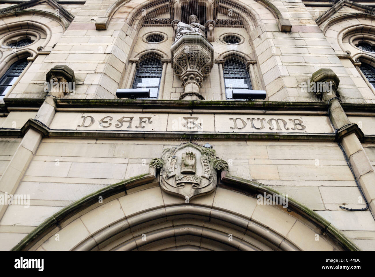 The Deaf and Dumb Institute building in Grovesnor Street, Manchester, now known as The Deaf Institute and home to - Stock Image