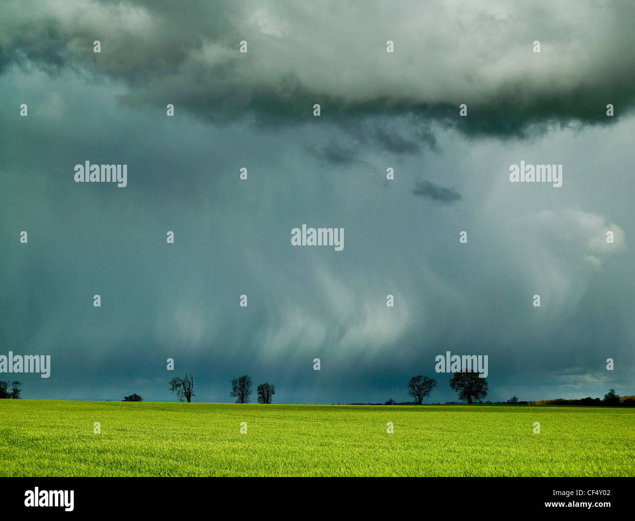 Summer rainstorm over the Vale of Stokesley. - Stock Image