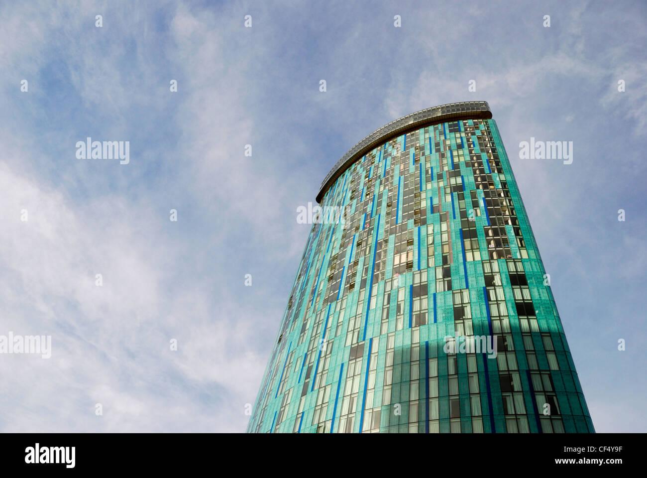 Radisson Blu Hotel in a 39 storey skyscraper in the centre of Birmingham. - Stock Image