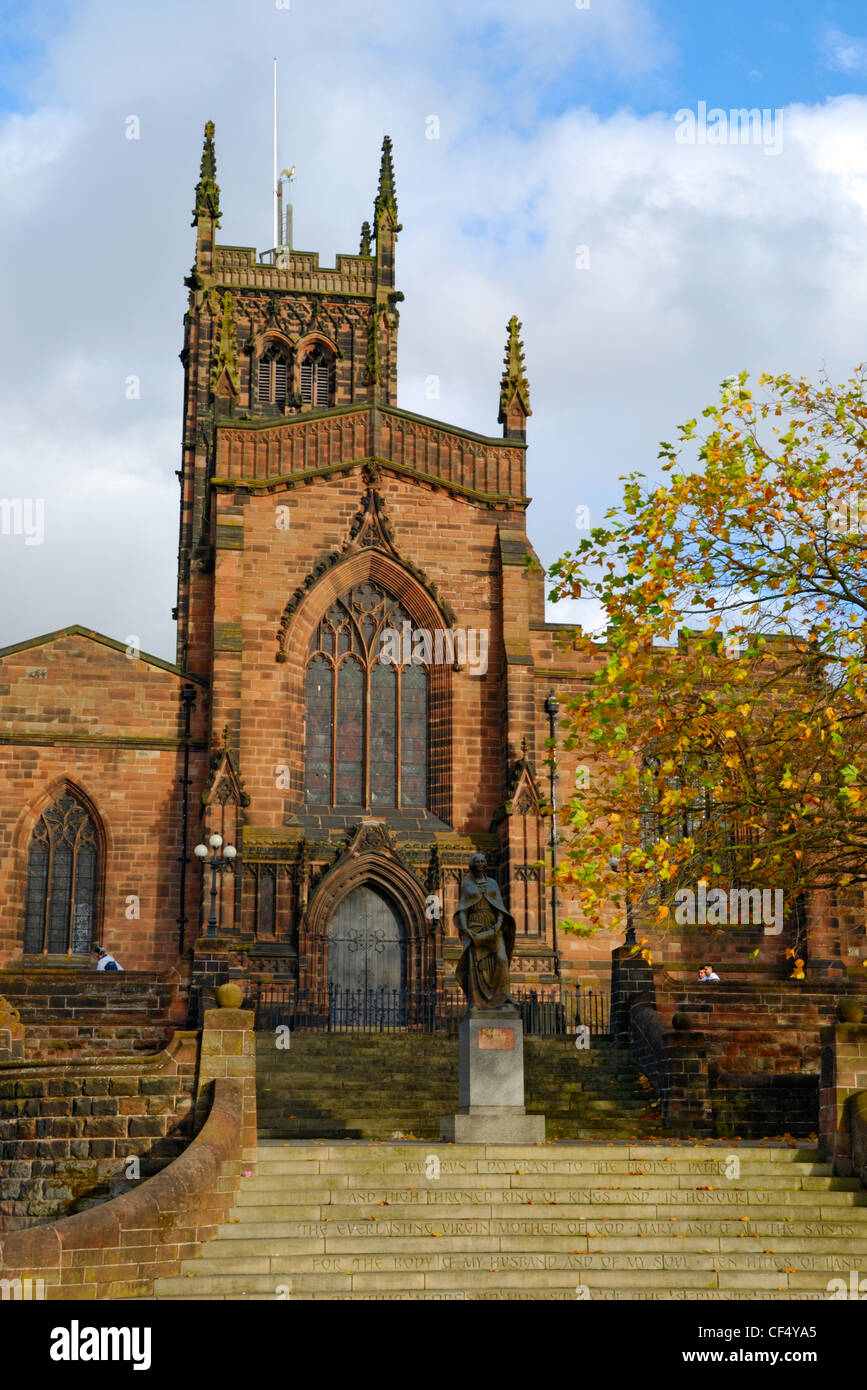 St Peter's Collegiate Church in Wolverhampton. The church has the second oldest complete set of twelve bells - Stock Image