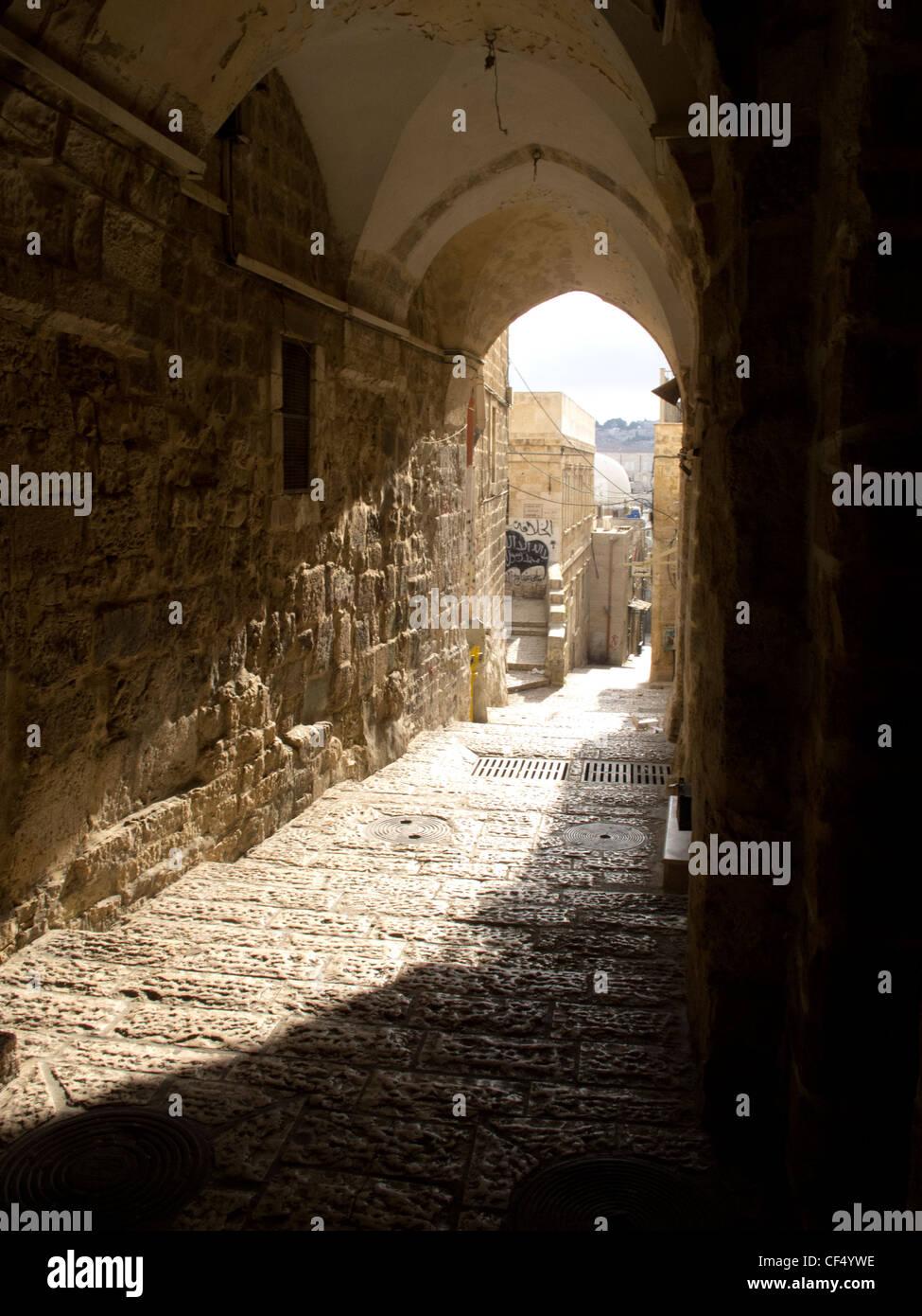 Palestine, West bank,Jerusalem inside the old city. - Stock Image