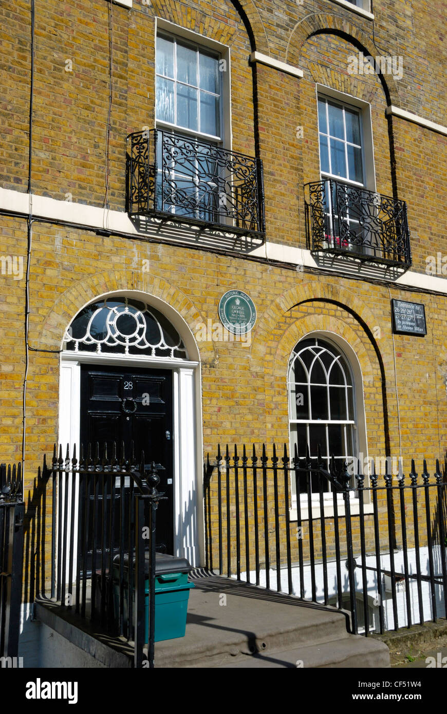 Site of the former home of George Orwell who lived at 27B Canonbury Square. - Stock Image