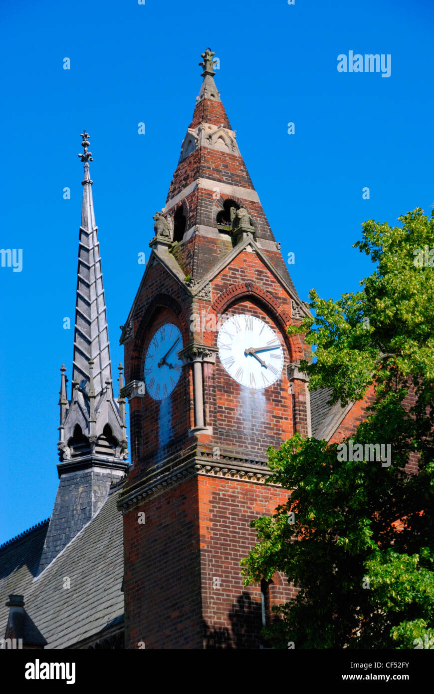 Highgate School Chapel clock tower. Stock Photo
