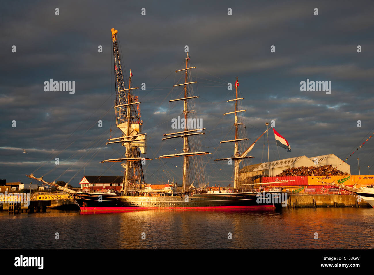 The Clipper Stad Amsterdam at the 2010 Tall Ships Race, Hartlepool. - Stock Image