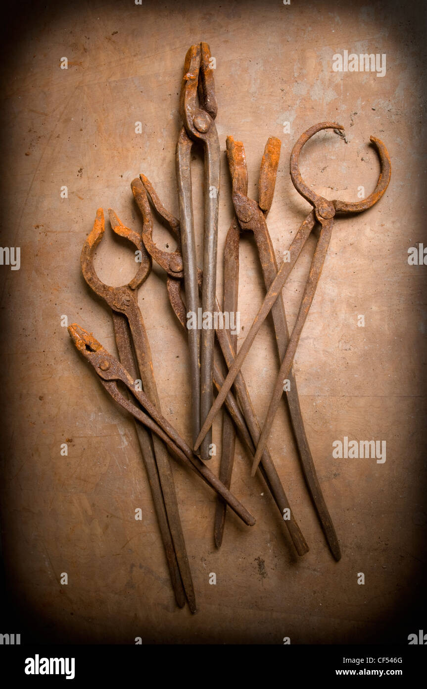 Old rusted pliers and gripper Stock Photo: 43753656 - Alamy