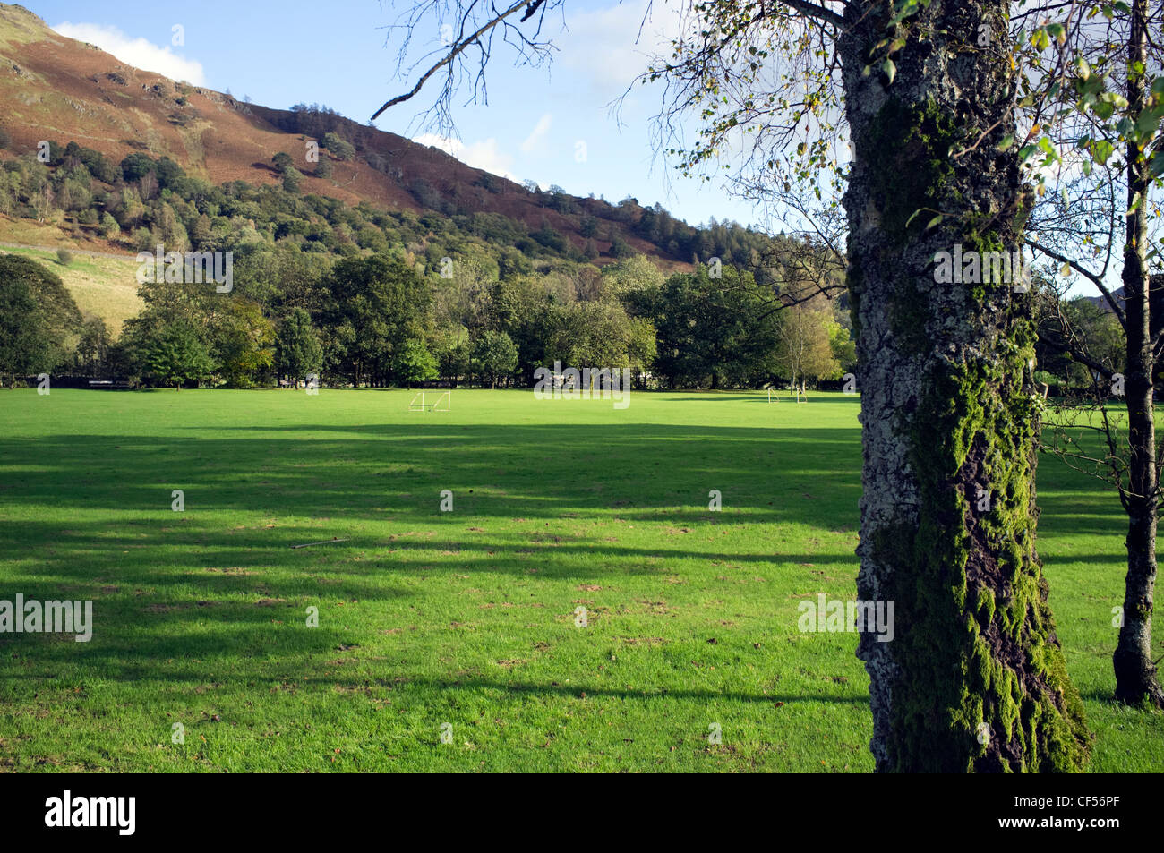 Broadgate Meadow Park in an idyllic Lakeland setting, Grasmere, Cumbria, England - Stock Image