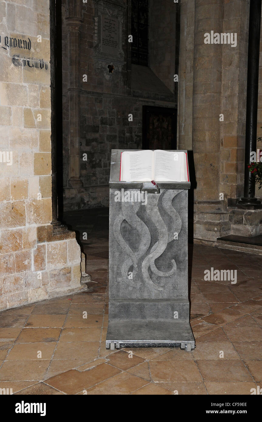 The Lectern, Chichester Cathedral. - Stock Image
