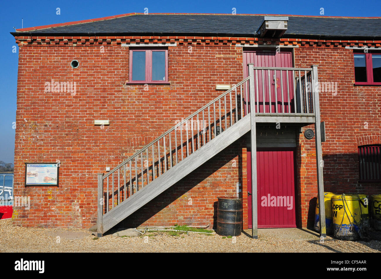 The Old Grainstore, Dell Quay. - Stock Image