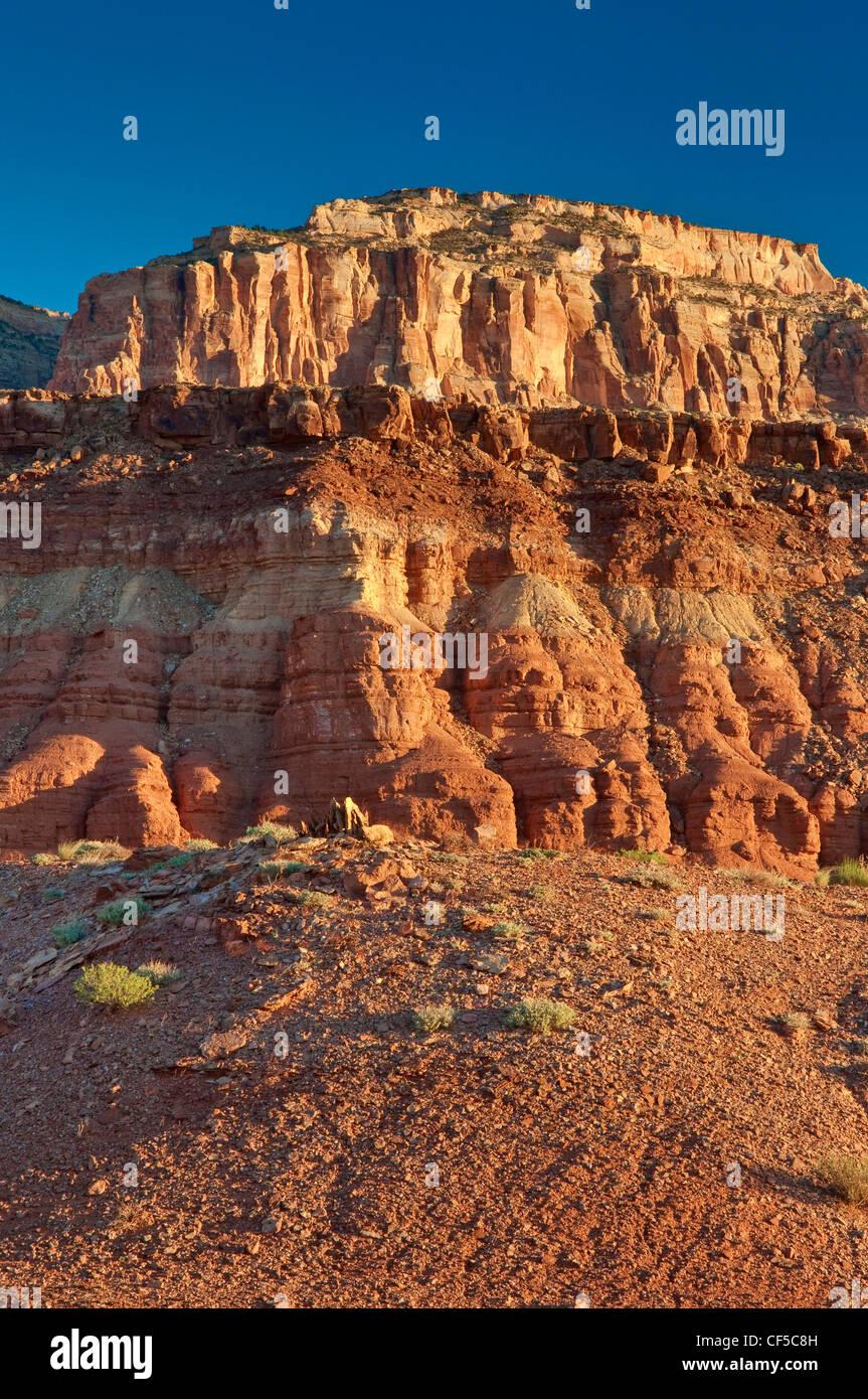 Paria Plateau escarpment at Vermilion Cliffs National Monument, Arizona, USA - Stock Image