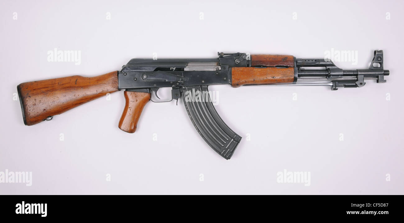 Albanian made variant of the Chinese Type 56 stamped receiver rifle, the ASh78 Type 1 (Automatiku Shqiptar 78 Tip - Stock Image
