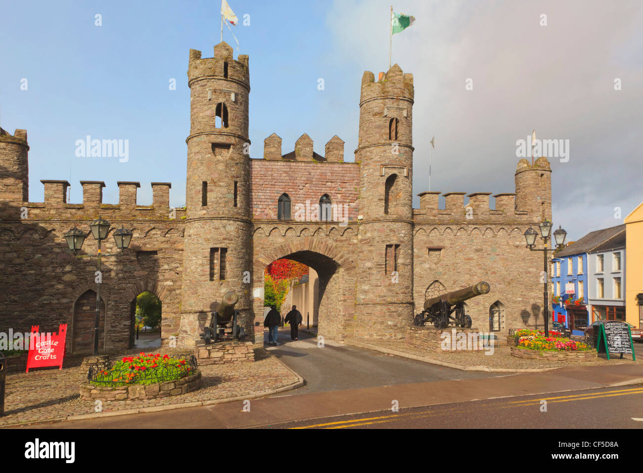 Macroom, County Cork, Republic of Ireland. Macroom Castle. - Stock Image
