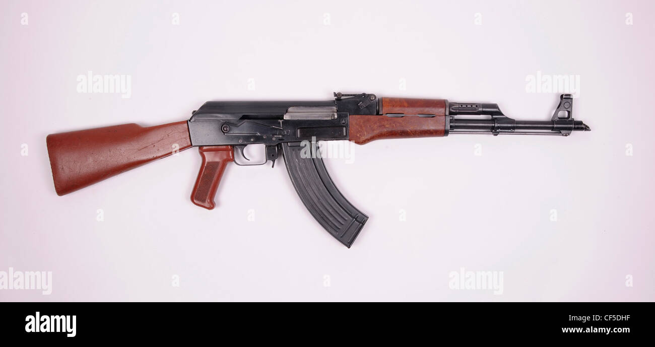 Milled receiver Bulgarian AKK rifle. Identical to the Russian AK47 but with plastic furniture. - Stock Image