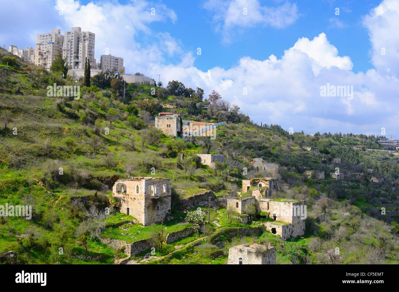 Lifta, Jeruslaem abandoned village. - Stock Image