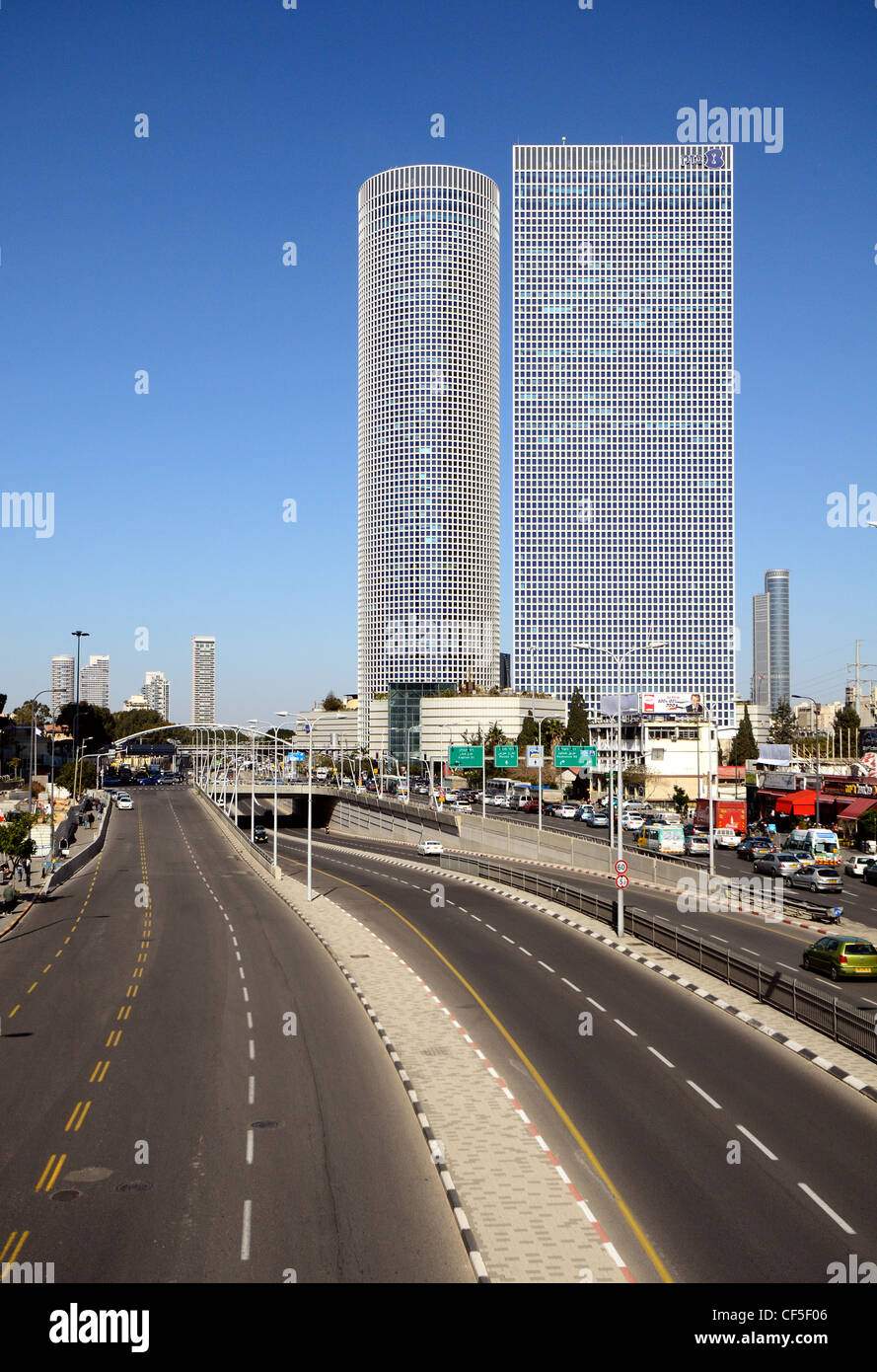High rises in Tel Aviv, Israel - Stock Image